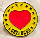 """Orthodox"" Enamel Metal Lapel Badge (Heart)"